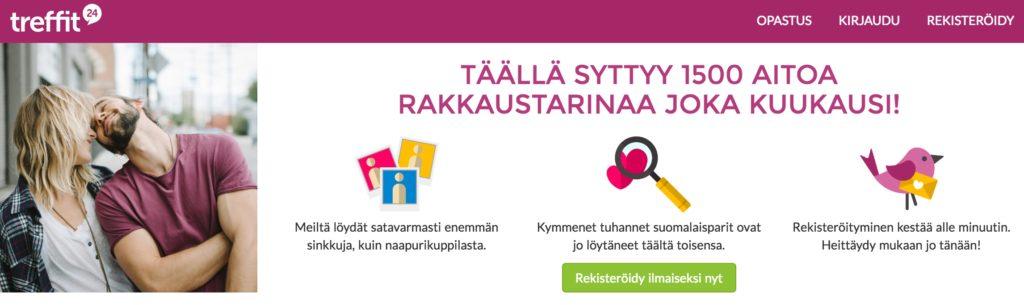 Suomi24 treffit on Suomen suosituin deitti palvelu. Arvostelu ja esittely